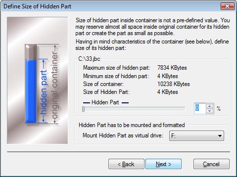 Hidden Part property sheet