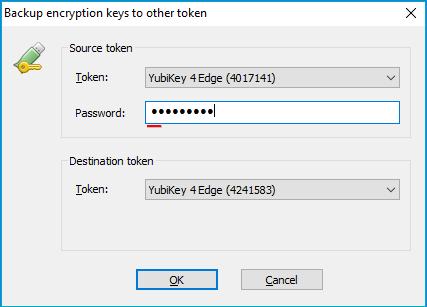 Managing Keys on Hardware Token