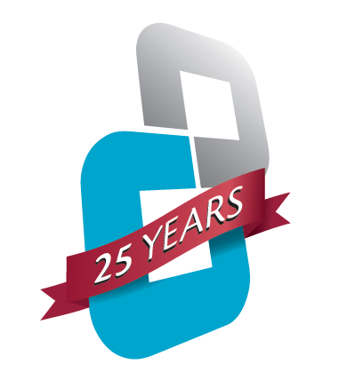 25 years knot logo