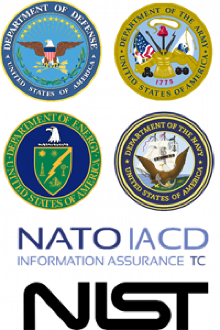 Logos of US and NATO organizations using Jetico DoD wipe standard