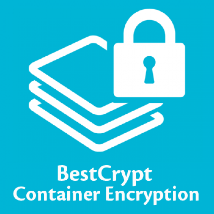 BestCrypt Container Encryption icon on blue background