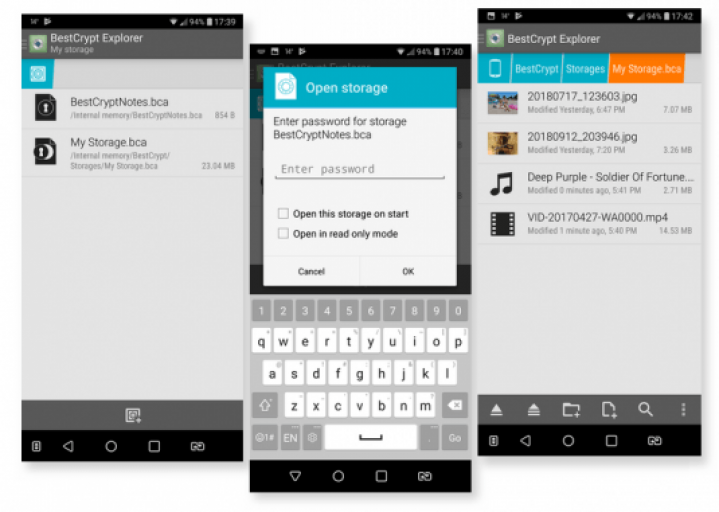 Manage files and folders and protect data on your Android device with strong encryption.