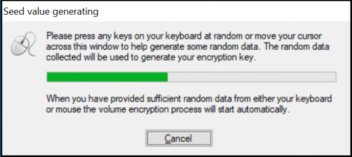 Screenshot Step 4 Encrypt with BestCrypt Volume Encryption