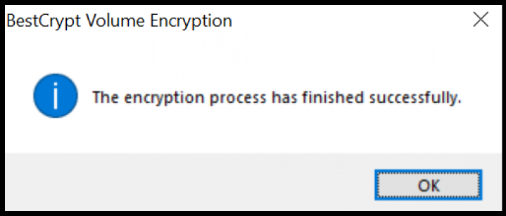 Screenshot Step 4.2 Encrypt with BestCrypt Volume Encryption