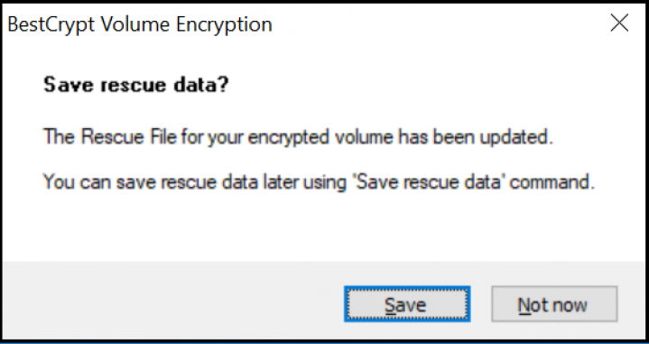Screenshot Step 5 Encrypt with BestCrypt Volume Encryption