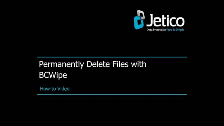 How to install & register bcwipe | jetico.